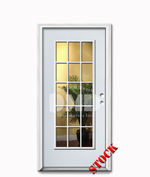 15 lite clear glass steel exterior door 6 8 door and for 15 lite door exterior