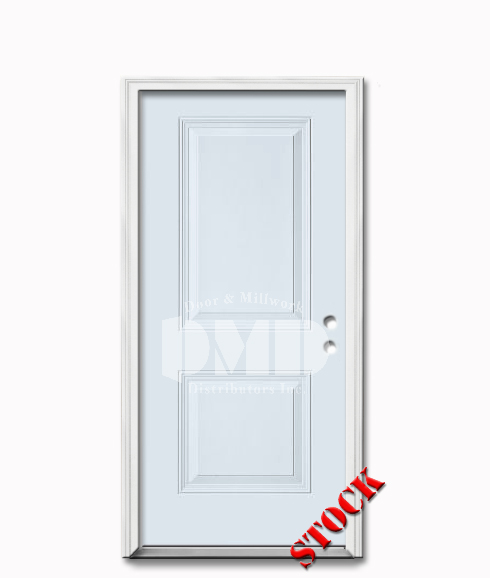2 Panel Square Steel Exterior Door 6 8 Door And Millwork Distributors Inc