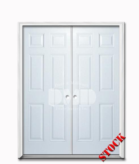 6 Panel Steel Exterior 6 8 Double Door Door And Millwork Distributors Inc